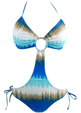 Triangle Top Keyhole Monokini Swimsuit