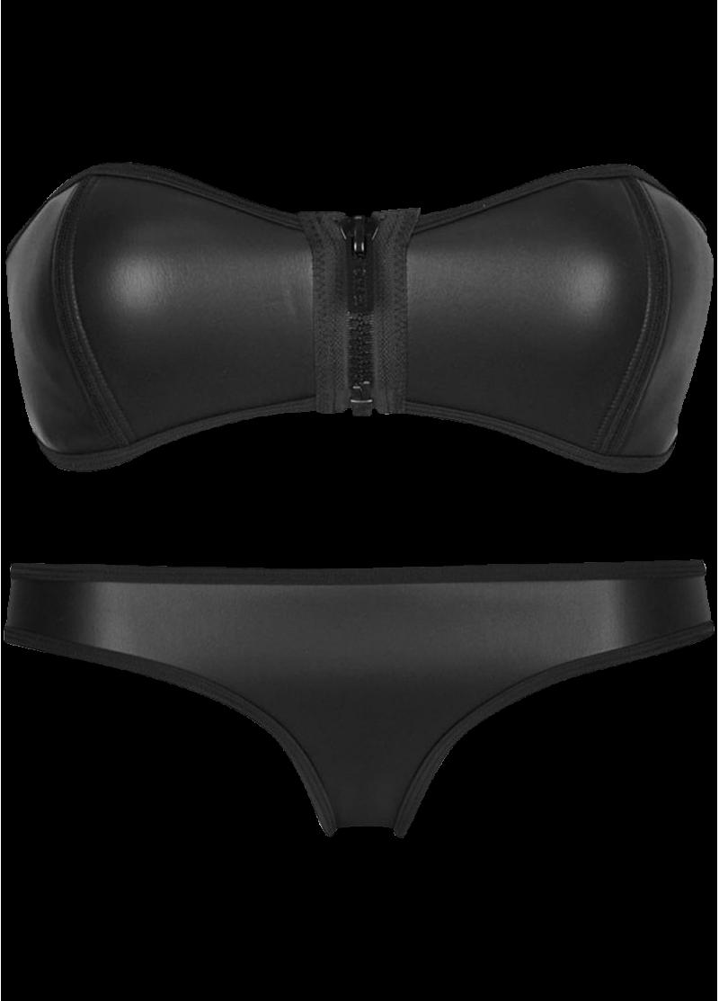 Luxury Zip Top Diving Suit Neoprene Bikini Set